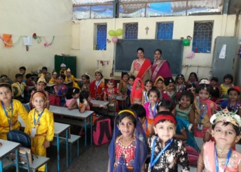 Janmashtami celebration by JR KG stuents