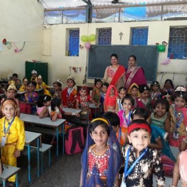 Janmashtami celebration by JR KG stuents